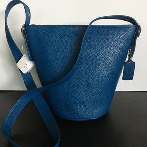 "COACH, NWT Small Royal Blue Leather ""Duffle"""